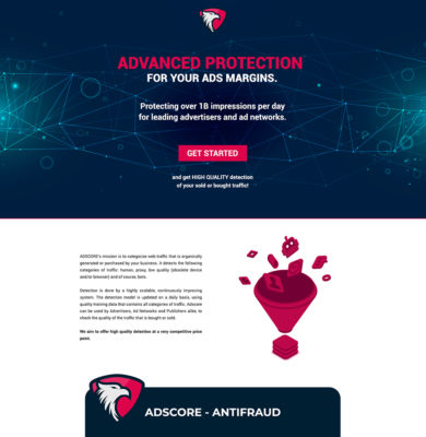 Landing Page Design – Advanced Protection