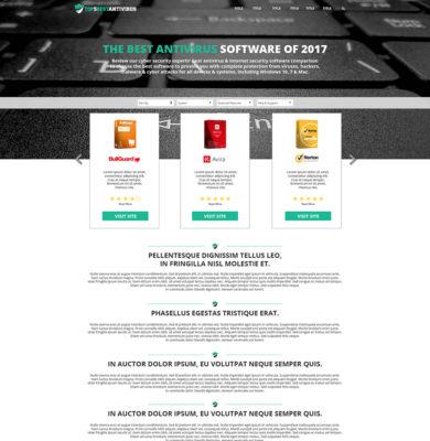Landing Page Design – AntiVius