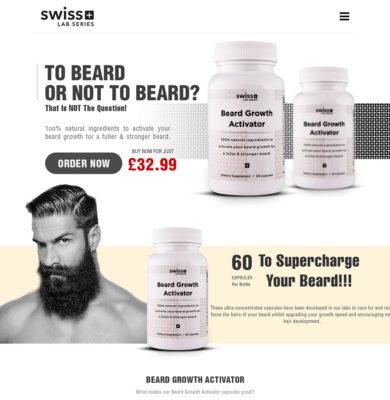 Landing Page Design – Beard