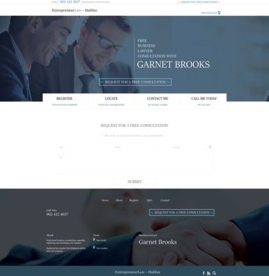 Landing Page Design – Enterprenuer Law