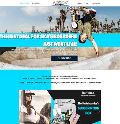 Landing Page Design – FunBox