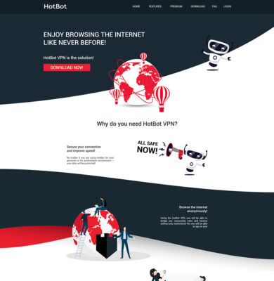 Landing Page Design – HotBot
