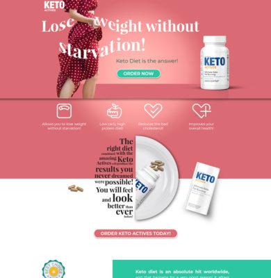 Landing Page Design – Keto