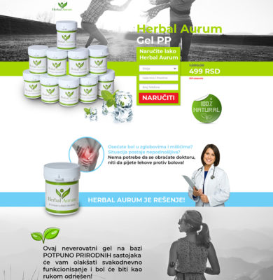 Landing Page Design – Herbal Aurum