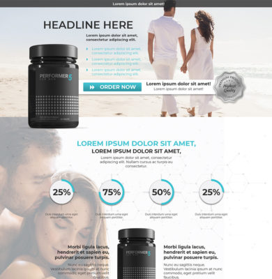 Landing Page Design – Performer