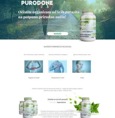 Landing Page Design – Purodone