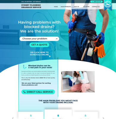 Landing Page Design – Sydney Plumbing